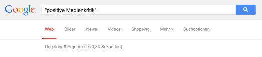 Positive Medienkritik bei Google