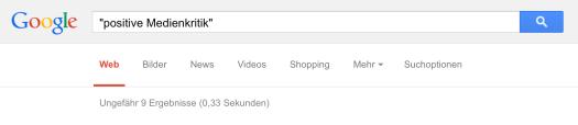 Positive Medienkritik bei Google